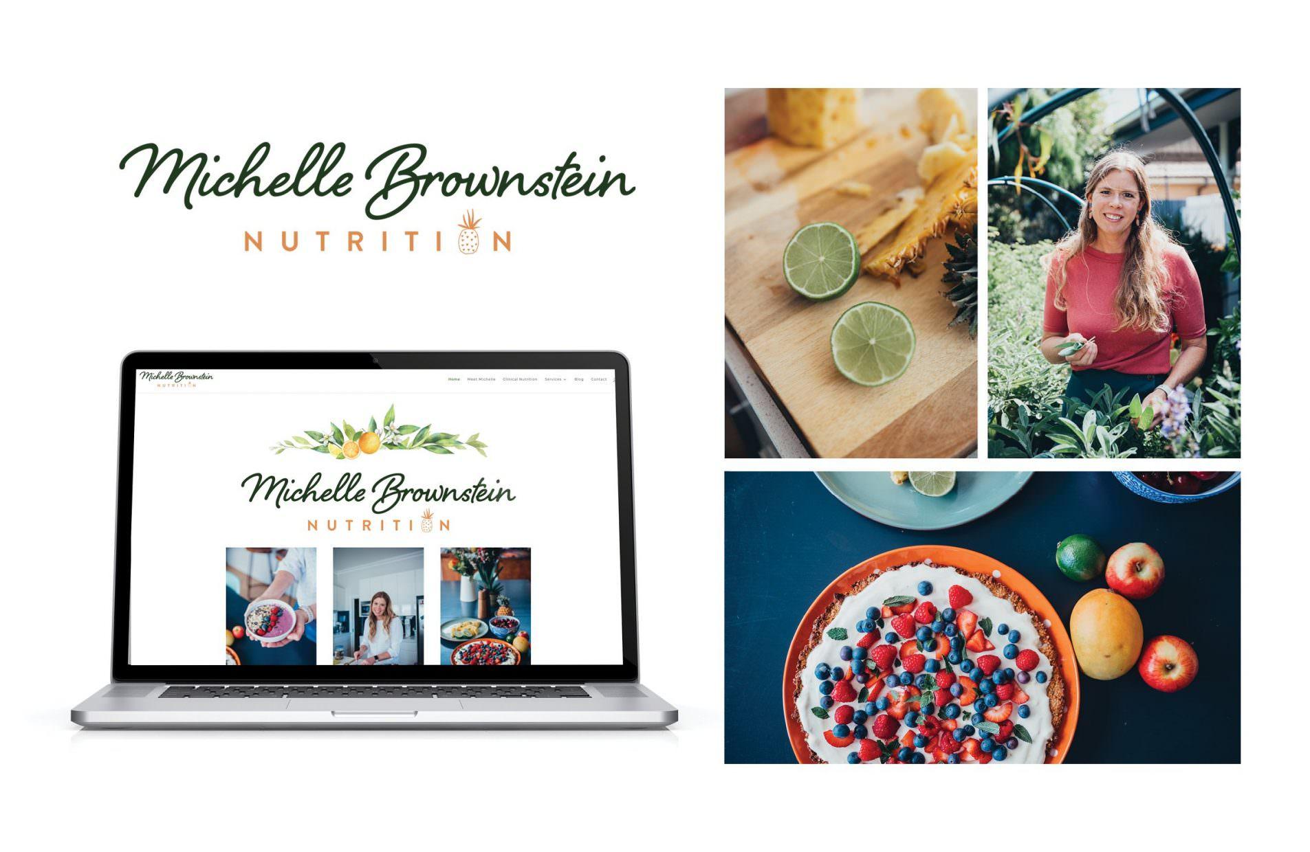 nutritionist branding laptop food shots